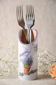 Kitchen Utensil Holder Madeheart Handmade Wooden Cutlery Holder Decoupage Wooden