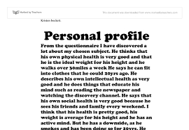 sample personal profile template co sample personal profile template