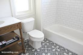 guest bath floor grout bright white bathroom shower wall tile delorean gray light grey farmhouse a62 grey