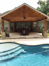 Interesting Attached Covered Patio Ideas Backyard Paradise Magnolia Tx United States Gable Roof To Impressive