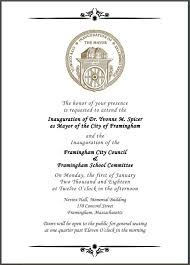 pictures of flyers invite of mayoral inauguration framingham mayor elect yvonne spicer the peoples mayor