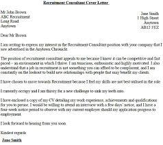 Recruitment Consultant Cover Letter Example Chechucontreras Com