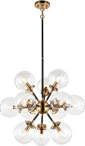 matteo c62812agcl soleil modern aged gold brass chandelier lamp loading zoom