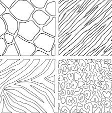 animal print coloring pages