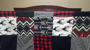 buffalo plaid crib bedding boy crib bedding buck deer black arrows red black buffalo check buffalo buffalo plaid crib bedding