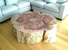 tree stump tables with glass tops tree trunk coffee table stump tables natural side round glass