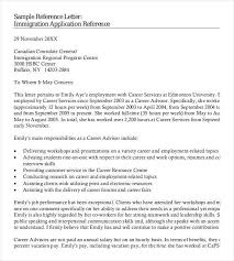 Reference Letter For Immigration Professional Immigration Recommendation Letter Template Of Reference