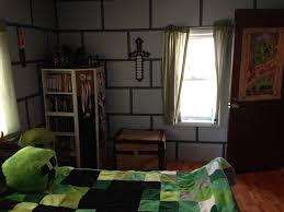 Minecraft Kids Bedroom Minecraft Kids Room Minecraft Room Sword Chest Creeper Blanket