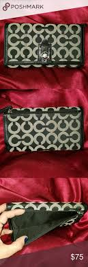 COACH OP ART BLACK GRAY LARGE FULL SIZE SNAP COACH OP ART BLACK GRAY
