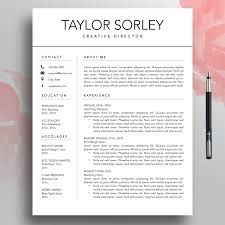 Modern Resume Etsy Modern Resume Cv Template 3 Page Minimalist Resume Simple Etsy