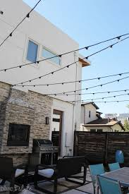 outdoor style how to hang commercial grade string lights patio string lights patios and commercial
