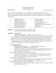 Hr Generalist Resume Template Sample India Format For Experienced