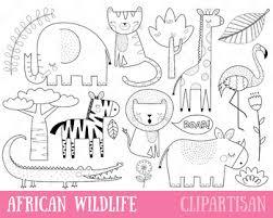 Safari Animals Template African Animals Clip Art Safari Animals Printable