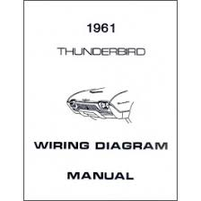 ford thunderbird wiring diagram manual 4 pages 1961 macs auto thunderbird wiring diagram manual 4 pages 1961