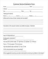 Customer Evaluation Form Omfar Mcpgroup Co