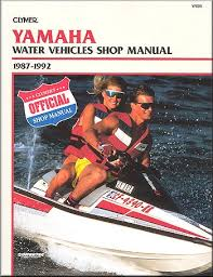 yamaha water vehicles shop manual by clymer 1987 1992