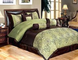 green and brown duvet covers 7 piece queen bedding sage green brown peony comforter set bed