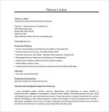 Finanical Security Consultant Resume