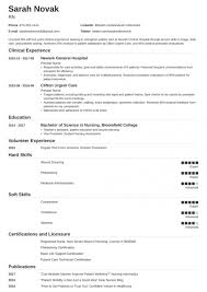 Resume Template For Nursing Job Nursing Student Resume Sample Guide For New Rn Grads