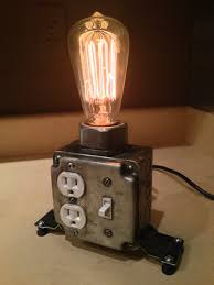 view in gallery industrial desk lamp with working plugs from martybelkdesigns on