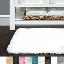 colorful bathroom rugs sweet home collection faux fur bath rug available in colors and 3 sizes