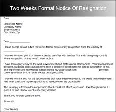 Letter Of Resignation 2 Weeks Notice Template Adorable 48 Two Weeks Notice Letter Templates Free PDF Formats