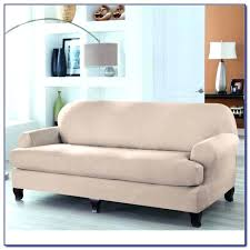 2 piece t cushion sofa slipcover t cushion sofa slipcover 2 piece sure fit stretch leather