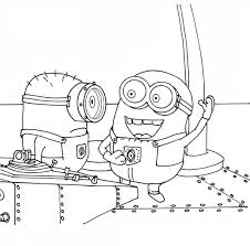 Small Picture Stuart And His Friend Talking Coloring Pages Idea for minion