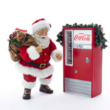Retro Vending Machine Vol 1 Mesmerizing CocaCola Santa With LightUp Vending Machine Statue Set