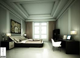 Modern Classic Bedroom Design Aluminium Frame Windows White Interior A Spacious Bedroom With