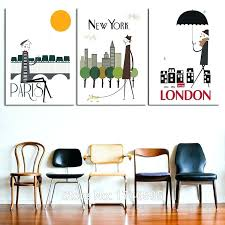 new city 18x24 inch frame white poster