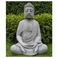 stone cast buddha garden ornament