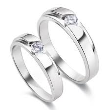 matching silver wedding bands. s925 sterling silver mens ladies couple promise ring wedding bands matching set i
