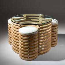 interesting furniture design. 3D-Coffe-Table-and-Stools Innovative Furniture Design: Coffee Tables, Interesting Design E