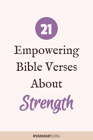 21 Empowering Bible Verses About Strength Ryan Hart