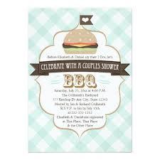 Couple Wedding Shower Invitations Aqua Blue Bbq Couples Wedding Shower Invitation Card