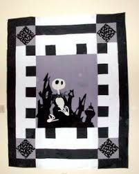 Nightmare Before Christmas Quilt | Quilts I've Made | Pinterest ... & Nightmare Before Christmas Quilt Pattern | Nightmare Before Christmas Jack  Skellington Quilt from Wists. Adamdwight.com
