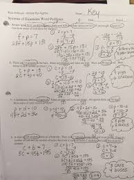 systems of equations word problems worksheet answers 1 4
