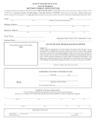 New Mexico Notary Public Application Form – Notary Public Near Me