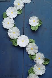 White Paper Flower Garland Diy Cupcake Liner Flower Crown Tutorial Hungry Heart