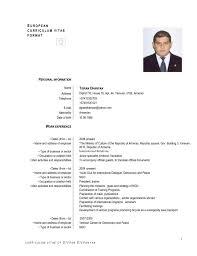 Resume Template English Resume Sample