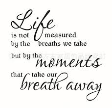 Life Is Not Measured By The Breaths Quote