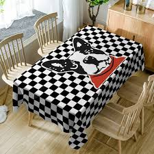 Tablecloths <b>Black White</b> W54 inch * L72 inch Table Accessories ...