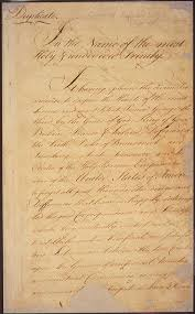 images of the american revolution national archives treaty of paris page 1 signature page
