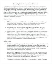 College Prompt Essay Examples College Application Essay Example Uc