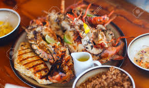 Delicious Grilled Seafood Platter Stock ...