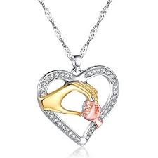 heart pendant necklace family gift