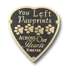 pet memorial pawprints metal plaque