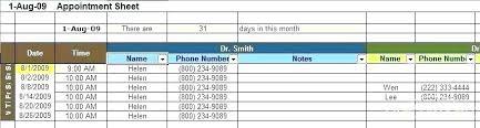 Schedule Book Template Appointment Templates Calendar
