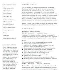 Sample Resume Project Coordinator Change Management Resume Sample Program Manager Resume Project 69